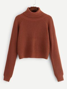 To find out about the Roll Neck Raglan Sleeve Jumper at SHEIN, part of our latest Sweaters ready to shop online today! Winter Sweaters, Sweater Weather, Women's Sweaters, Shein Pull, Vetement Fashion, Creation Couture, Roll Neck, Winter Looks, Cardigans For Women