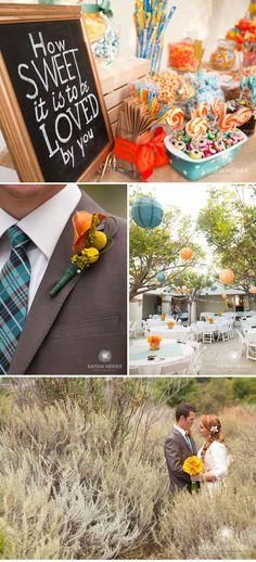 pops of color on simple + elegant tables