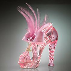 Reflections of Hope Shoe Figurine Breast Cancer Crystal Shoes Bradford Exchange - Burning Desires Gifts