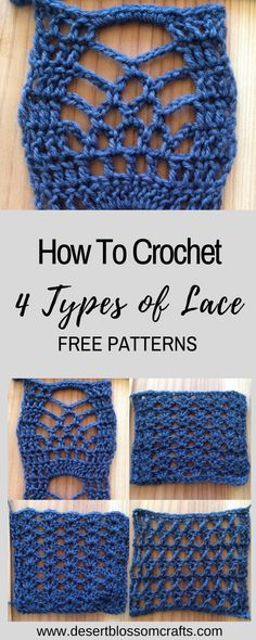 Learn how to crochet EASY lace! Trust me, even beginners can do this! I will walk you through step by step. Visit my blog for 4 free patterns!