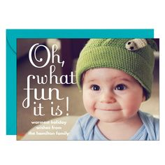 Left Oh What Fun Holiday Photo Card