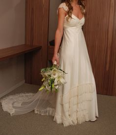 vestido de novia vintage romántico toul de la india.