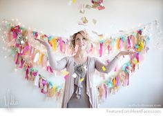 DIY Fringe & Light Photography Backdrop Idea featured on I Heart Faces Photography Blog