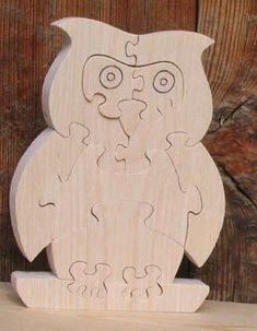chouette puzzle 12 pieces en Hetre 3d Puzzles, Wooden Puzzles, Woodworking Patterns, Woodworking Projects, Cd Mosaic, Diy And Crafts, Arts And Crafts, Cat Stands, Scroll Saw Patterns