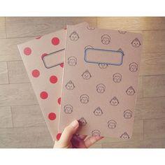 N.IVY Penguin loves mev A5 size plain notebook ver.2 - fallindesign