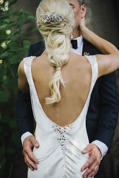 Ladies, prepare for a full swoon - these 18 breathtaking backless and detailed back dresses are simply TDF! Bridal Hair And Makeup, Bridal Beauty, Wedding Dress Backs, Most Beautiful Wedding Dresses, Glamorous Wedding, Bridal Style, Maggie Sottero, Wedding Hairstyles, Backless