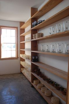 Shelving in artist Donald Judd's loft, Soho.
