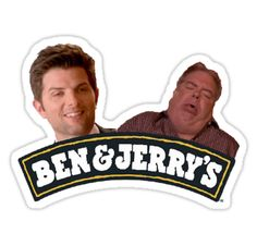 """""""ben & jerrys parks and rec"""" Stickers by heartbreakings 