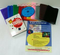 **MULTI-AWARD WINNING**Children's Activity My Many Colored Days Scarf Kit with CD by arts education IDEAS. $50.00. This multi-award winning activitiy kit is excellent in helping reinforce color recongintion, encourage reading, identifyng and exploring moods, creating movement to match music, starting and stopping - motor control. Joyful times spent with friends, parents, teachers, caregivers, books, music and movement.