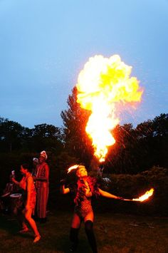 Fire Act at African Safari Themed 50th Birthday Party