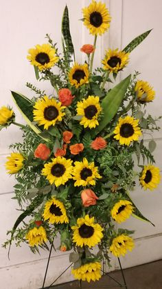 Sunflower easel