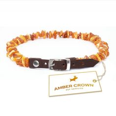 Amber Flea and Tick Collar with Adjustable Leather Strap for Dogs and Cats / Untreated Authentic Baltic Amber Dog Necklace / Natural Tick and Flea Control and Prevention / Gift-Ready Packaging – Perfect Present for Every Pet Lover / 100 Days Satisfact Flea Control For Cats, Flea Spray, Dog Necklace, Ambre, Flea And Tick, Dog Boarding, Gifts For Pet Lovers, Dog Grooming, Pet Supplies