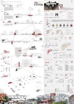 이미지를 클릭하면 창이 닫힙니다. Library Architecture, Architecture Collage, Architecture Visualization, Architecture Portfolio, Landscape Design Plans, Landscape Concept, Landscape Architecture Design, Architecture Presentation Board, Presentation Design