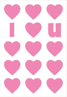 Free #Printable I Heart U Greeting Card. #Love