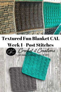 Week 1 Post Stitches: Textured Fun Blanket CAL Week 1 of the Textured Fun Square Sampler Blanket Crochet Along is the Post Stitches Square. See pattern + video tutorial. Crochet Square Blanket, Crochet Blocks, Granny Square Crochet Pattern, Crochet Squares, Crochet Blanket Patterns, Crochet Stitches, Crochet Blankets, Granny Squares, Crochet Crafts