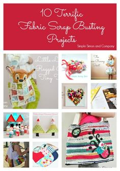 Fabric Scrap Busting Projects - Simple Simon and Company