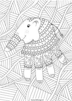 Kleurplaat Voor Volwassenen Elephant