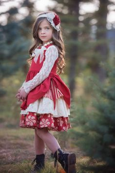 Persnickety Holiday Ellie Dress Pre Order-Persnickety Holiday Ellie Dress Pre Order, free shipping. Persnickety Girls Holiday dresses, skirts, holiday tops, free shipping.