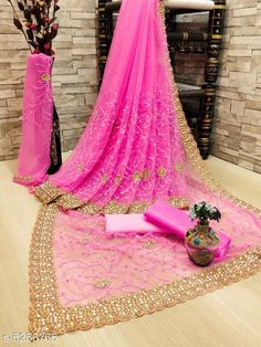 Checkout this latest Sarees Product Name: *Jivika Refined Net Sarees* Saree Fabric: Net Blouse Fabric: Net Pattern: Embroidered Multipack: Single Sizes:  Free Size (Saree Length Size: 5.5 m, Blouse Length Size: 0.8 m)  Country of Origin: India Easy Returns Available In Case Of Any Issue   Catalog Rating: ★4 (19666)  Catalog Name: Jivika Refined Net Sarees CatalogID_779255 C74-SC1004 Code: 488-5256765-2652