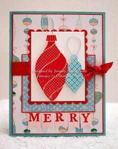 Stampin' Up! Ornament Keepsakes handmade Christmas card