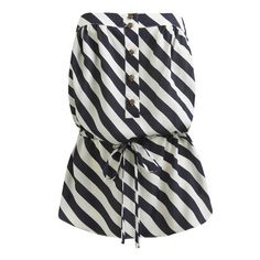 Nautical Stripe Drawstring Tube - Women's Clothing and Apparel - Chic... ($44) ❤ liked on Polyvore