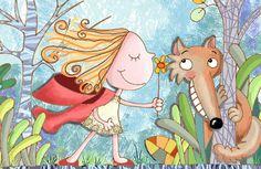 Il·lustracions de Caputxeta Vermella i el llop: amics / Ilustraciones de Caperucita Roja y el lobo: amigos / Illustrations of Little Red Riding Hood: friends (30)