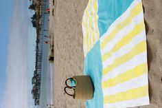 Beach blanket - reuses old towels and uses a vinyl tablecloth on the back (keeps out sand)