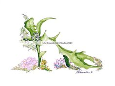 Shoe Print SHIPS FREE   Staghorn Fern by brownleeartstudio on Etsy