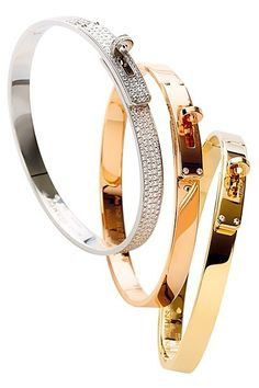 I really like these Hermes bangles but nothing beats a Cartier Love! Jewelry Box, Jewelry Watches, Jewelry Accessories, Fashion Accessories, Fine Jewelry, Fashion Jewelry, Fashion Shoes, Girl Fashion, Fashion Clothes