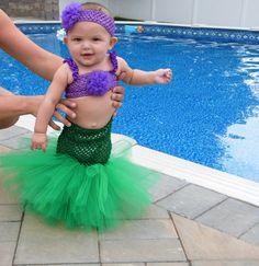 Little Mermaid Tutu Halloween Costume on Etsy, $35.00