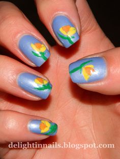 Delight in Nails: 30 Day Flower Challenge Day 10: Daffodil