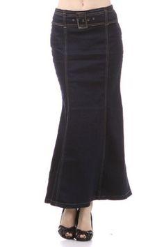 Women's Flared denim skirt with belt (601SL, Blue, S) Tops and Bottoms HS,http://www.amazon.com/dp/B007TWJB84/ref=cm_sw_r_pi_dp_DuH6qb1ZG84SVYZF