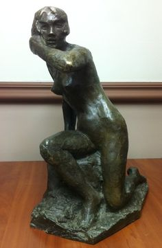 """Nude - Dancer V. Maleeva"" Korolev, Boris Danilovich Russian Sculpture"