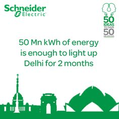 We will be saving 50 Million kWh of energy but what does this really mean? It means electricity that can be used to light up all of Delhi for two months!