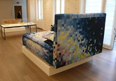 Spanish designer Cristian Zuzunaga created this luxurious pixelated bed.