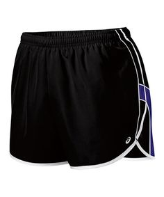 Take a look at this Black & Jewel Quad Shorts - Women by ASICS on #