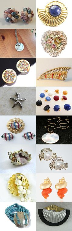 Sea Shells By The Sea Shore - Vintage Jewelry from Vjt by moonbeam0923 on Etsy--Pinned+with+TreasuryPin.com