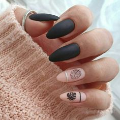Black Nail, You can collect images you discovered organize them, add your own ideas to your collections and share with other people. Best Nail Polish Brands, Types Of Nail Polish, Types Of Nails, Gel Nail Polish, Gel Nails, Thin Nails, Black Nails, Matte Nails, Nail Paint Shades
