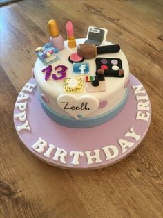Great Photo of 13 Year Old Birthday Cake Images . 13 Year Old Birthday Cake Images Zoella Theme Birthday Cake For 13 Year Old Bday Party ideas for 13 year olds 13th Birthday Party Ideas For Girls, Teenage Girl Birthday, Birthday Cakes For Teens, 13th Birthday Parties, Happy Birthday Cakes, 12th Birthday Cake, Themed Birthday Cakes, 13 Birthday, Birthday Gifts