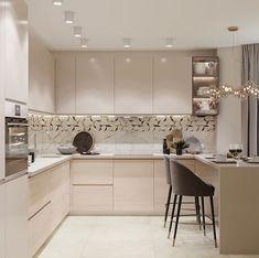 36 Popular Simple Kitchen Decor Ideas You Should Try Simple Kitchen Design, Kitchen Room Design, Luxury Kitchen Design, Home Room Design, Home Decor Kitchen, Interior Design Kitchen, Home Kitchens, Modern Kitchen Interiors, Modern Kitchen Cabinets