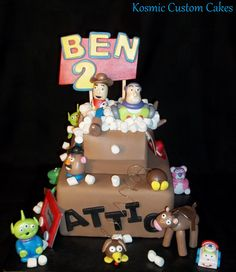 Toy Story Cake For more pics - Find us on Facebook TODAY! Kosmic Custom Cakes