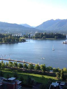 Coal Harbor, Vancouver- taken from the 14th floor of Marriott Renaissance Hotel- June 2013