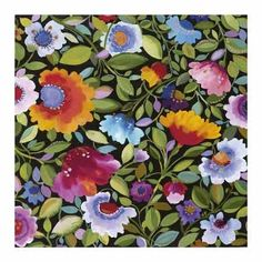Kim Parker - India Garden Textile No. 2 - by Artistic Holdings Company