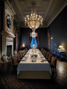 La Salle a Manger, Shangri-La, Paris, France #French #diningroom #baroque