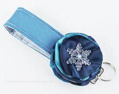 Snowflake Keychain  Winter Keychain   by LittleMissHattitude, $11.95