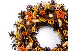 Natural Wreath Christmas Wreath Winter Decorations by ZielonePalce