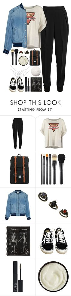 """""""I Don't Love You // My Chemical Romance"""" by luciamenesess ❤ liked on Polyvore featuring Giambattista Valli, Vans, Herschel, MAC Cosmetics, Diesel, NARS Cosmetics and Josie Maran"""