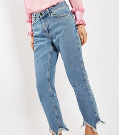 Topshop Boutique Straight Leg Jeans ($100) The jagged hems are the cherry on top of these straight-fit jeans.