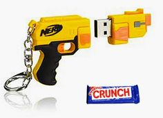 Promo Crunch Custom Shaped Rubber Flash Drives: Nerf gun custom usb rubber flash drive Custom, shaped, memory, flash, drives, usb, rubber, PVC, promotional, products, GB, stick, inexpensive, fast, promo, crunch, promocrunch, molded, 3D, 2D