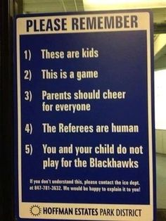 Perfect sign tackles aggressive parenting in youth hockey with fantastic humor